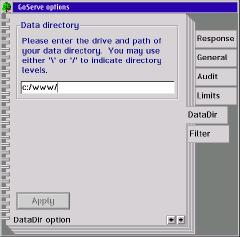 Setting up GoServe data directory